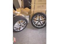 "2 x 17"" Alloys with Tyres , originally from SAAB 95 93 Aero Convertible"