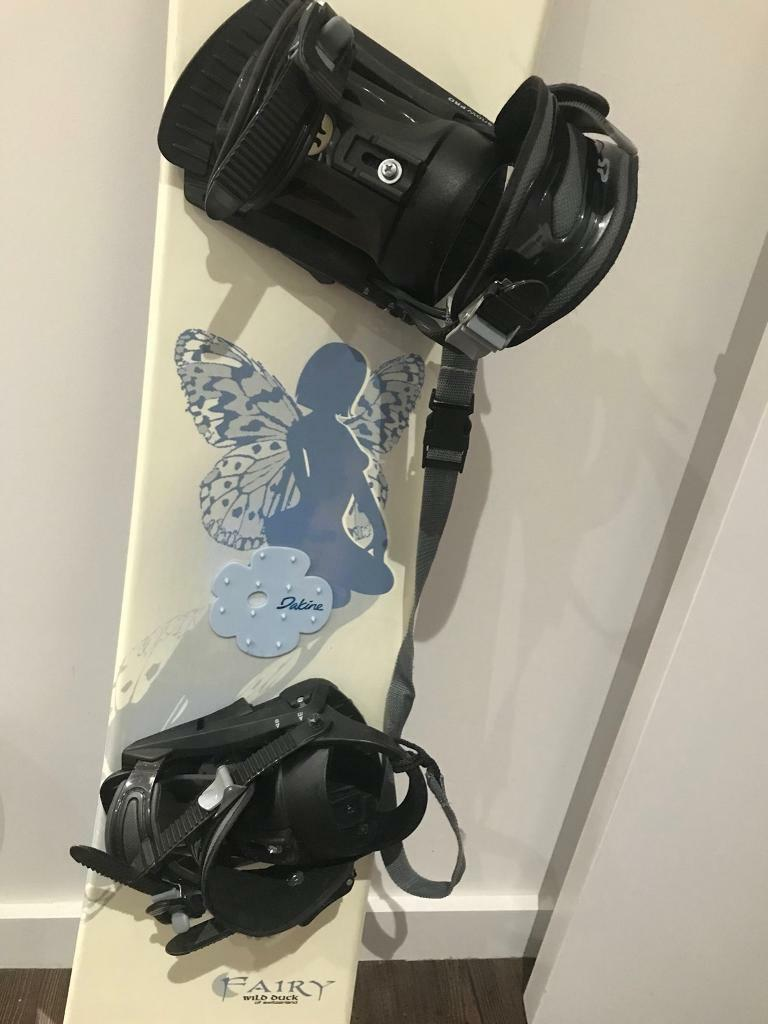 Wild Duck Snowboard FAIRY with Bindings and Solomon Boots
