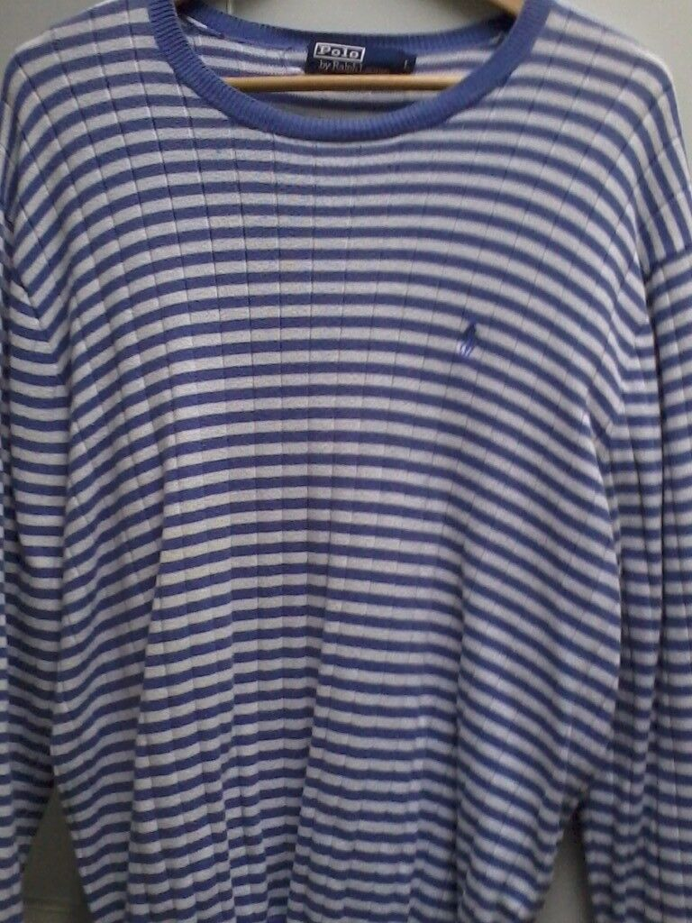 £625.00 WORTH OF MENS RALPH LAUREN POLO DESIGNER JUMPERS / ALL SIZED XL/L / ALL IN VGC / BARGAIN