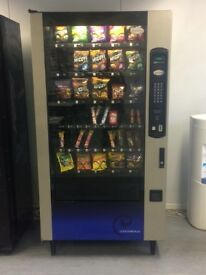 Combination vending machine snacks, chocolate, crisp