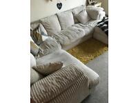 Cream right corner sofa