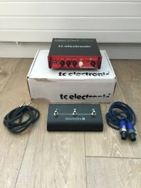 TC BH 250 bass amp with footswitch SWITCH-3, box and cables