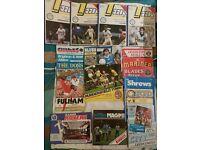 Leeds United Football Programmes - Away + Home 1984-85