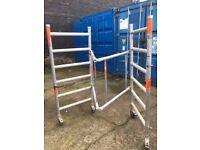Folding scaffold tower on wheels