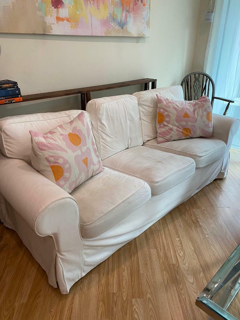 IKEA Ektorp White Sofa Three Person | In London | Gumtree