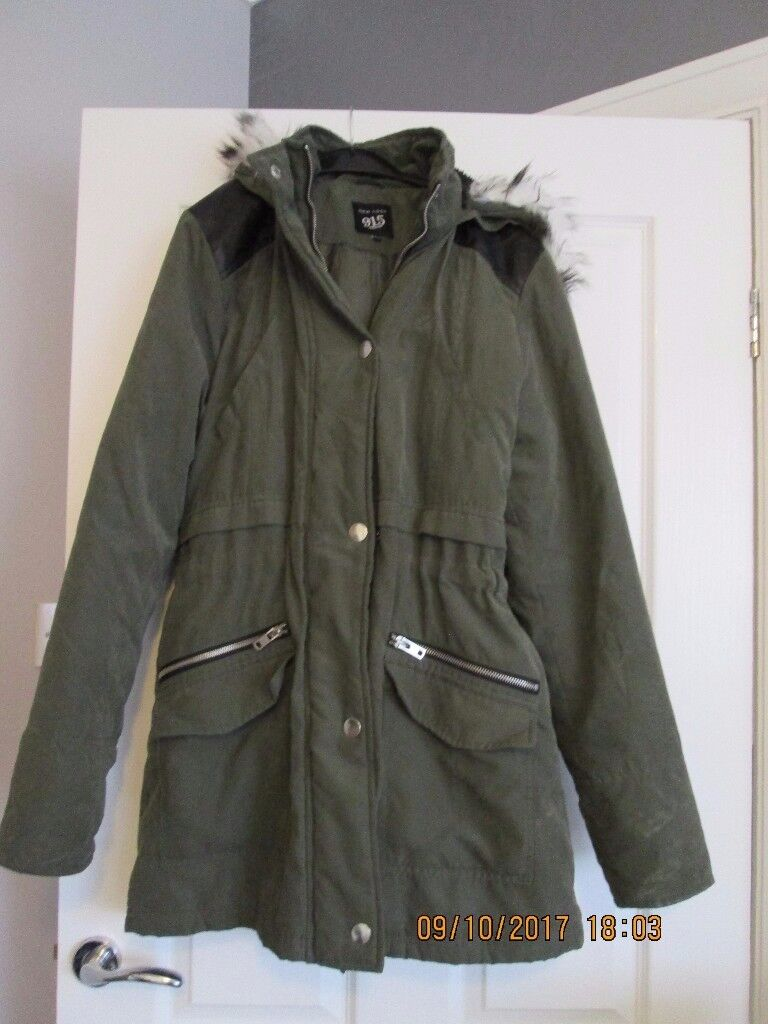 New Look girls parka coat size 14-15 years