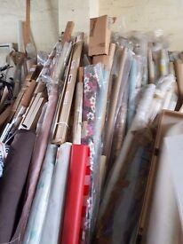 Remnants of roller blinds. Many various lenghts. Job lot.