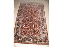 Hand-made 100% Wool Iranian rug, rust colour