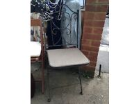 Black iron ornate chairs - set of six