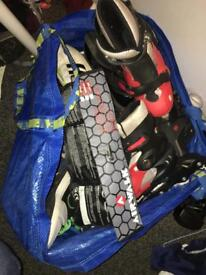 Big bag full of boys shoes including AirMax and heelys