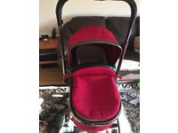 Mothercare orb pram with maxi cosi car seat