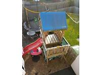 Jungle gym with balcony slide steps all inc good condition only 3 year old.