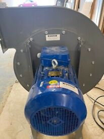 High Pressure Centrifugal Fan Extractor 7.5 kw motor 7200m3/hr
