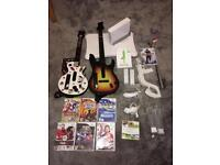 Nintendo Wii Console, 2 x Controllers, Wii Fit, Guitar Hero Guitars, Games & More