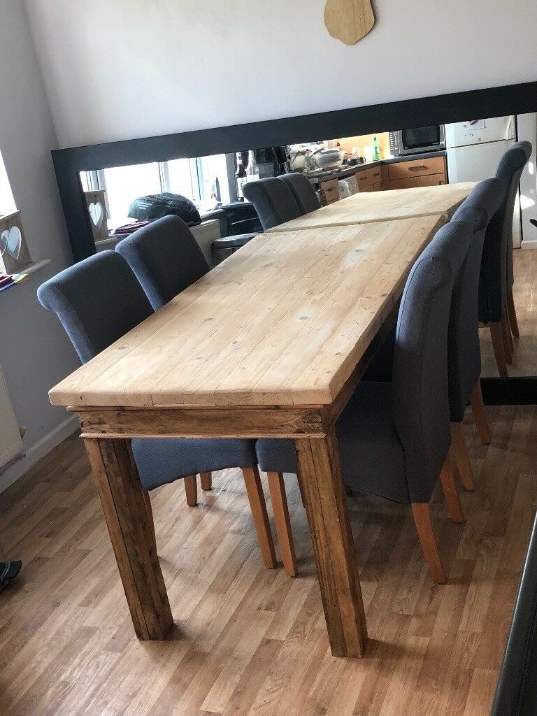 Beautiful Solid Wood Handmade Dining Table with 4 Hardly ...