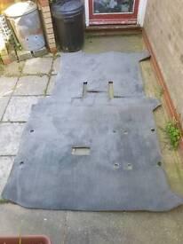 Vw T4 transporter caravelle swb rear carpet in grey genuine vw