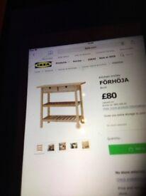Ikea Wooden Kitchen Trolley