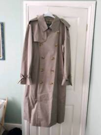 Burberry full length trench coat. XL