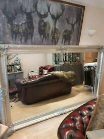 Fabulous Very Large Silver Wall Mirror Brand New