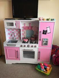 Girls wooden play kitchen