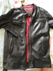 Leather jacket - super dry racing team