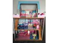 Large dolls house for Barbie with furniture