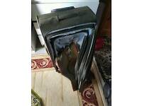 Set of 4 suitcases leather 4 wheels