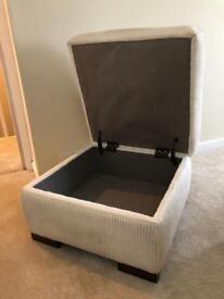 Habitat footstool/seat with storage