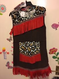 Dress up Idian/ Pocahontas/ animal print 7-8 years old
