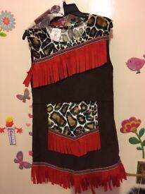 Dress up Idian/ Pocahontas/ animal print 7-8 years old