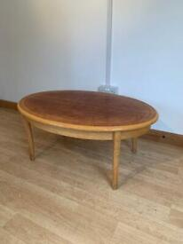 Solid Cherry Wood Coffee Table Vintage 2