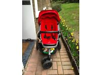 Quinny Buzz Xtra Pushchair + Carrycoat, Red Rumour