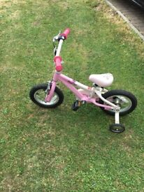 """Girls pink Specialized bike 32"""" frame for approx. age 2-4."""