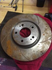 Mitsubishi Evo drilled a grooved front Discs