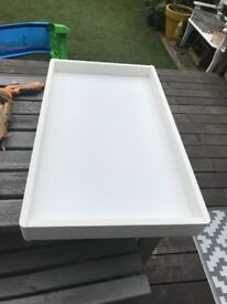 Drawer top changing table - white