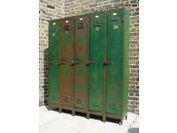 FREE DELIVERY Antique Metal Lockers Retro Vintage Mid Century Furniture 6 - 10
