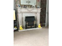 Adams style marble fireplace