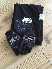 Star Wars scarf and gloves set x 2