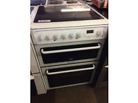 HOTPOINT CREDA 60CM DOUBLE OVEN ELECTRIC COOKER FAN ASSISTED058