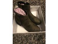 Brand new Khaki boots size 8