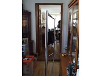 CLOTHES RAILS (HEAVY DUTY ON WHEELS IN CHROME )FREE EDINBURGH DELIVERY
