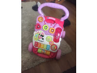PINK VTech First Steps Baby Walker great condition (will post)