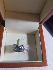 Diamond Ring 18ct White Gold and 2 ct Diamonds