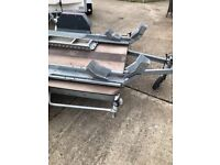 Double motor bike trailer with ramp etc.
