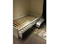 single bed with storage/ ikea