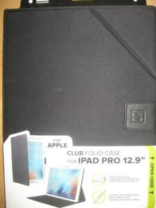 "Tucano Apple iPad Pro 12.9"" Folio Case. Adjustable Stand. Slim Design. Direct Access to Camera, Button. Water Resistant"