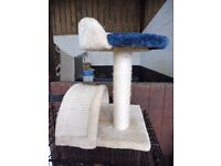 KITTEN CAT SCRATCHER ACTIVITY CENTRE pink and blue