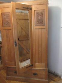 Antique pine wardrobe