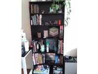 Black wooden bookshelf