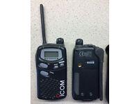 ICOM IC-446S PMR446 Radios (Pair) Two Way Walkie Talkies